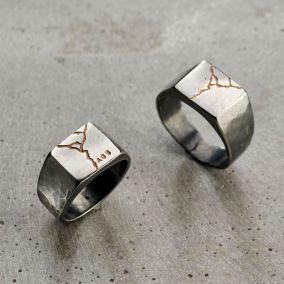 Personalised Kintsugi Signet Ring