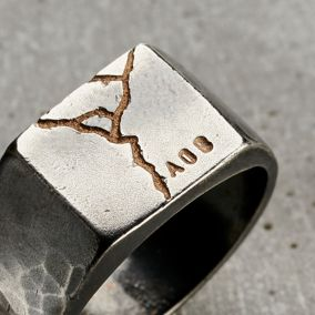 Personalised Kintsugi Signet Ring
