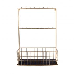 Large Gold Wire Kitchen Rack with Hooks
