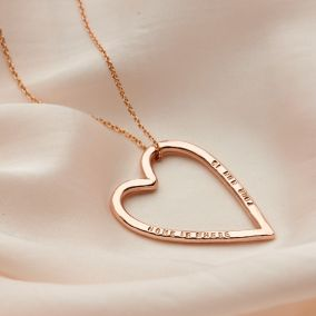 Personalised Large Heart Necklace