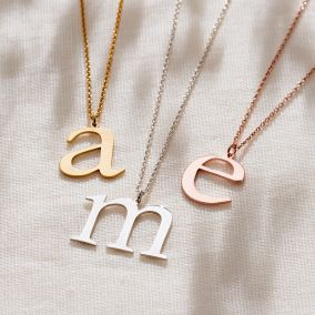 Large Letter Initial Necklace