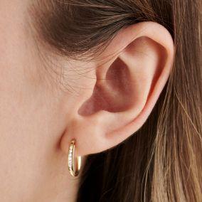 Slim 9ct Gold Huggie Earrings