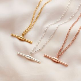 Personalised Large Albert T Bar Necklace