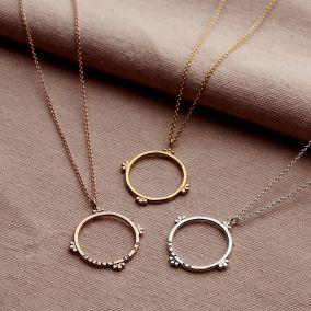 Personalised Large Crown Hoop Necklace