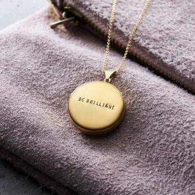 Personalised Large Round Locket Necklace
