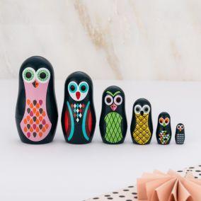 Pocket Owl Nesting Dolls