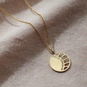 Personalised Large Sunburst Necklace