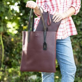 Personalised Faux Leather Tote Bag & Clutch Bag Set