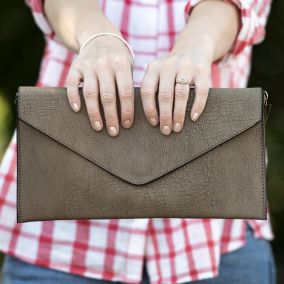 Personalised Women's Envelope Clutch Bag