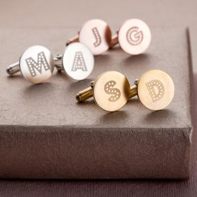 Personalised Letter-In-Lights Cufflinks