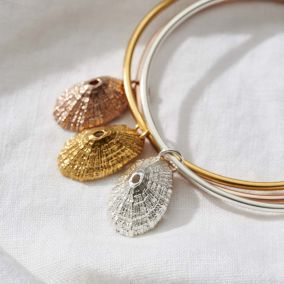 Personalised Limpet Shell Charm bangle