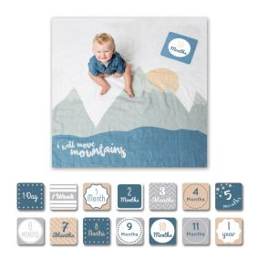 'I Will Move Mountains' Baby's First Year Photography Blanket