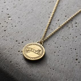 'Loved' Talisman Coin Necklace