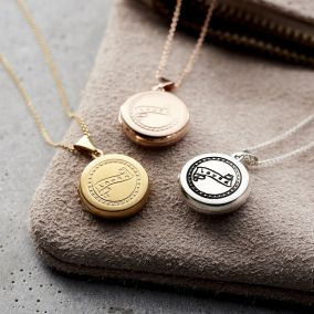 Small 'Loved' Locket Necklace