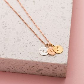 Personalised 'Loved' Mini Disc Necklace Giftbox