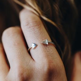 Luxe Triangle Open Ring
