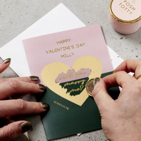 Personalised Marry Me Scratch Card