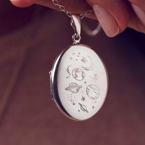 Medium Love the Earth Locket Necklace