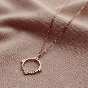 Personalised Medium Crown Hoop Necklace