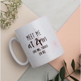 Personalised 'Meet Me At...' Wedding Mug
