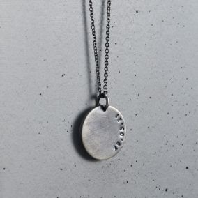Men's Personalised Date Disc Necklace