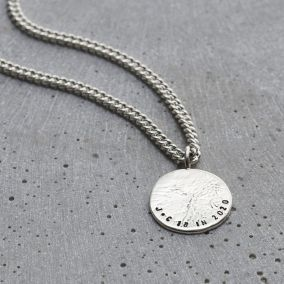 Personalised Men's Molten Disc Necklace