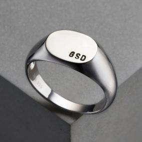 Men's Personalised Signet Ring