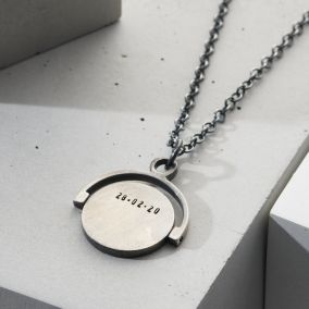 Men's Personalised Spinner Necklace