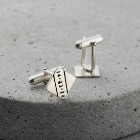 Personalised Diamond cufflinks