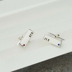 Personalised Birthstone Cufflinks