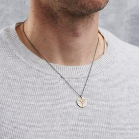 Men's Personalised Kintsugi Disc Necklace