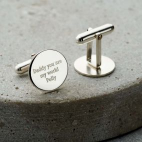 Personalised Globe Cufflinks
