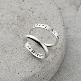 Personalised Men's Script Ring