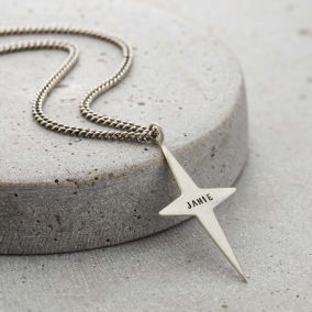 Personalised Men's Cross Necklace