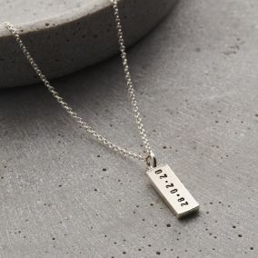 Personalised Men's Silver Tag Necklace