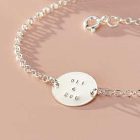 Personalised Message Disc Bracelet