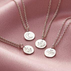 Mini Disc Charm Necklace