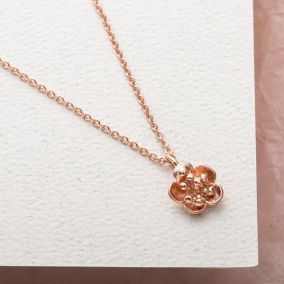 Mini Flower Charm Necklace