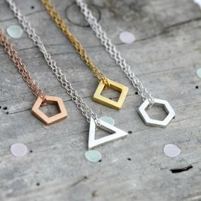 Personalised Moon & Back Necklace Giftbox
