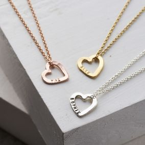 Personalised Micro Message Heart Necklace