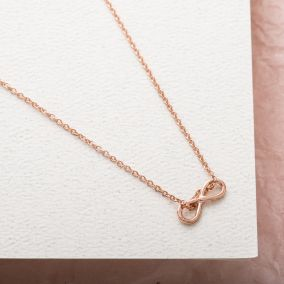Mini Infinity Charm Necklace