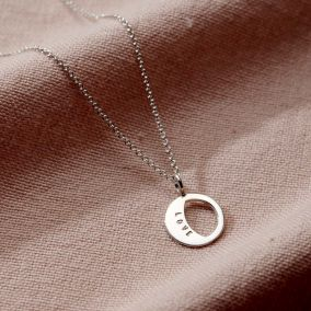 Personalised Small Moonshine Necklace