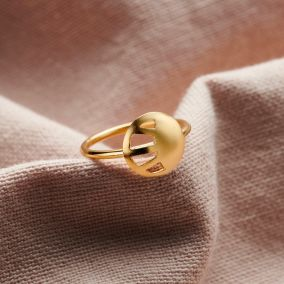 Personalised Small Sunburst Ring