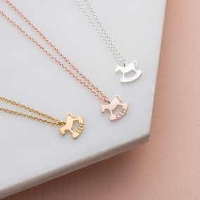 Personalised Petite Rockinghorse Charity Necklace