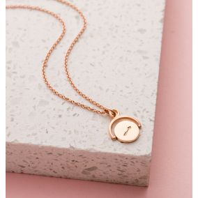 Personalised Love Arrow Spinner Necklace