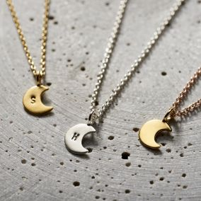 Personalised Mini Crescent Moon Necklace
