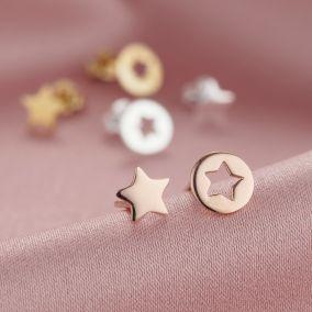 Mismatch Star Stud Earrings