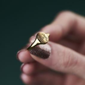 Personalised Monogrammed Signet Ring
