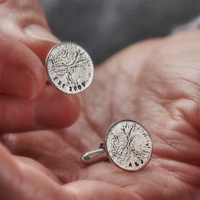 Men's Molten Disc Personalised Cufflinks