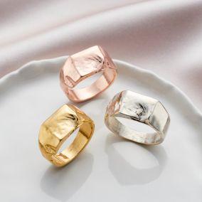 Molten Chunky Organic Signet Ring